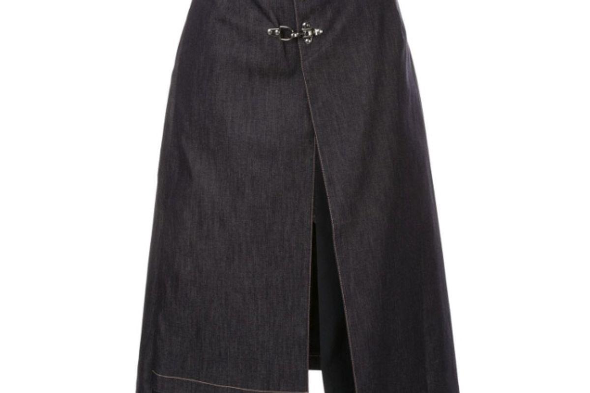 rokh buckle detail skirt