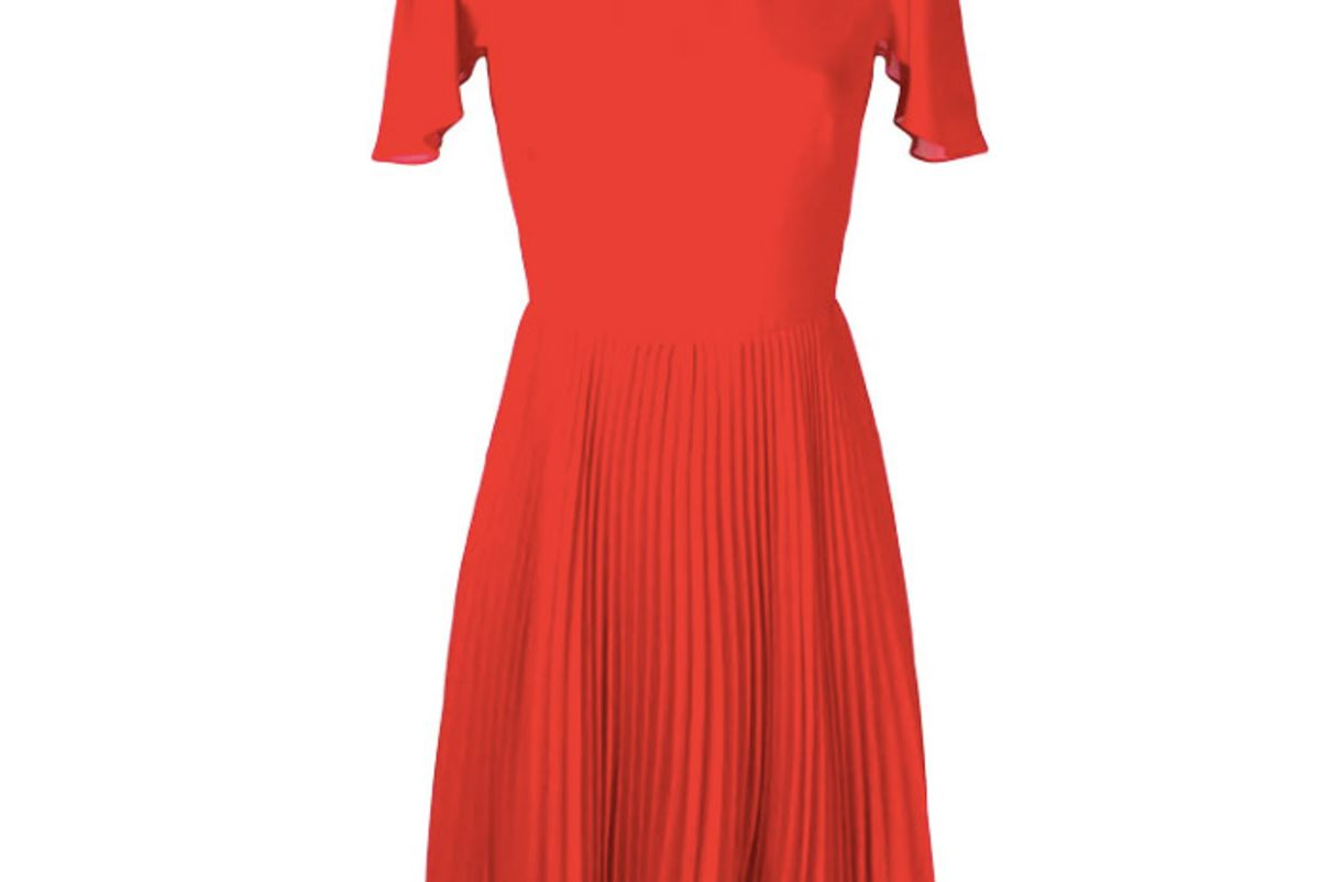 mulberry pleated skirt flared dress