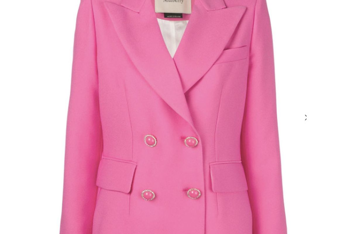 mulberry double breasted blazer