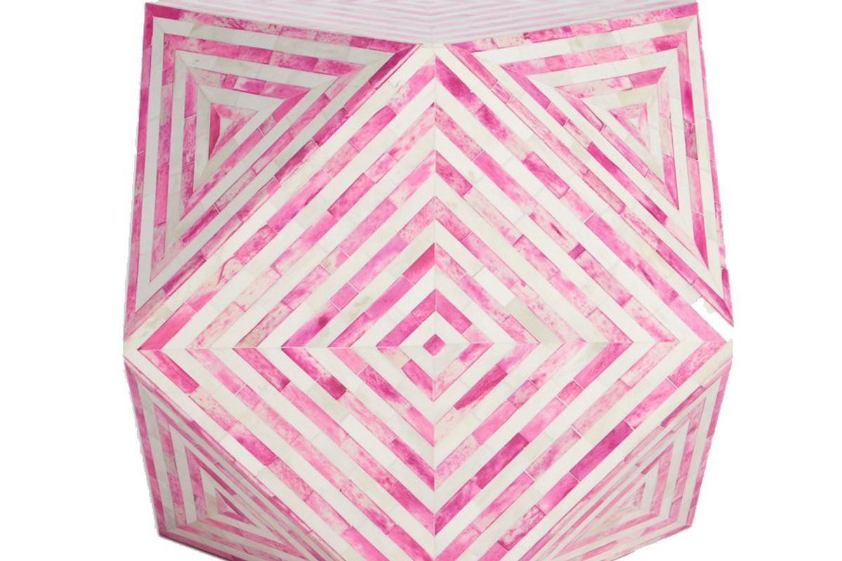 Mirah Geo Table in Electric Pink