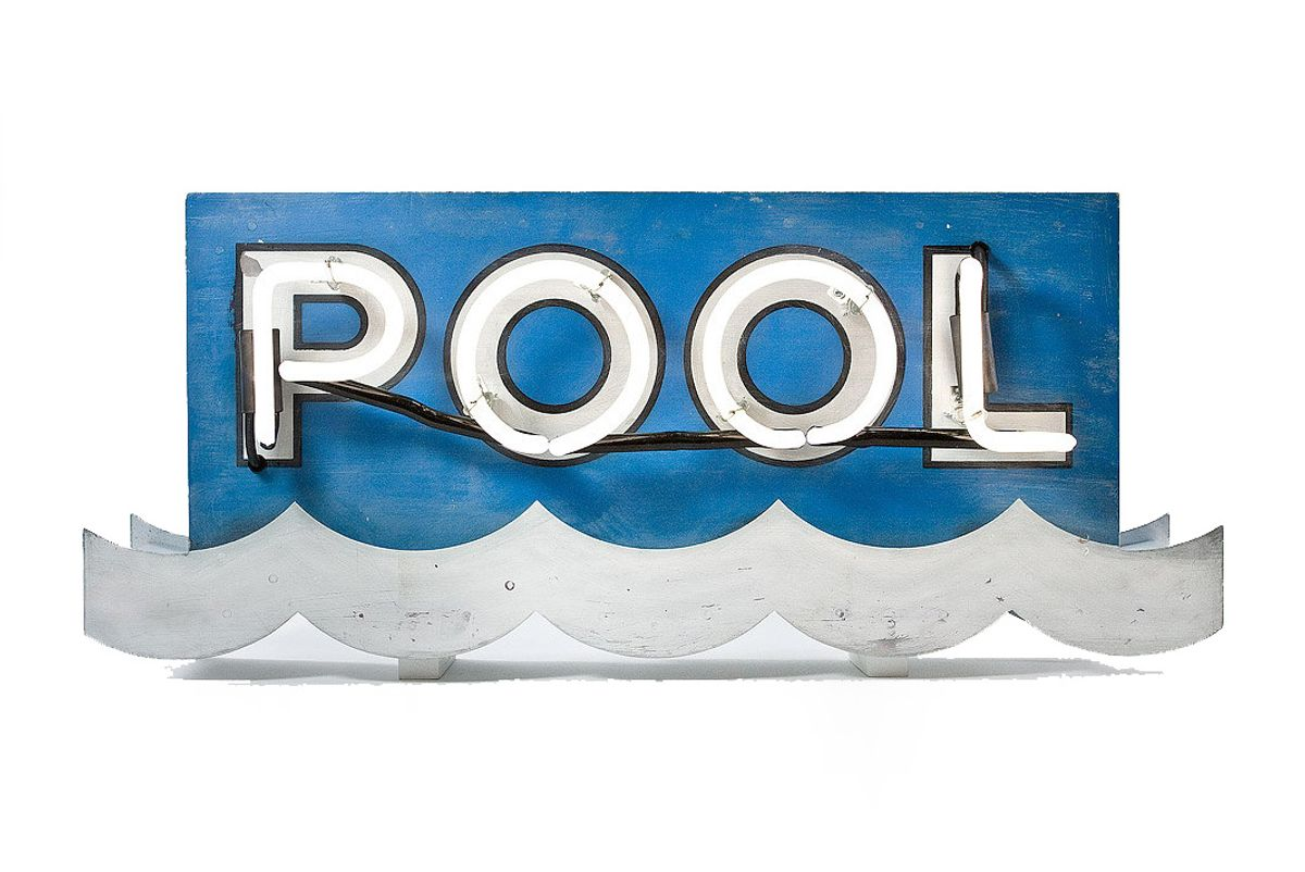 Neon Motel Pool Sign