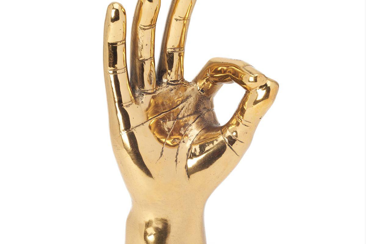 """Brass """"OK"""" Hand"""