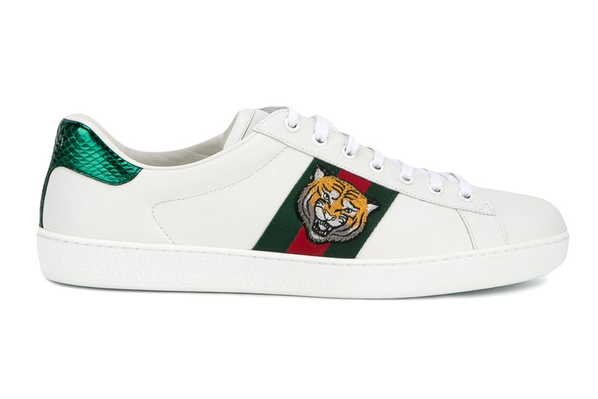 Ace Tiger Embroidered Sneakers