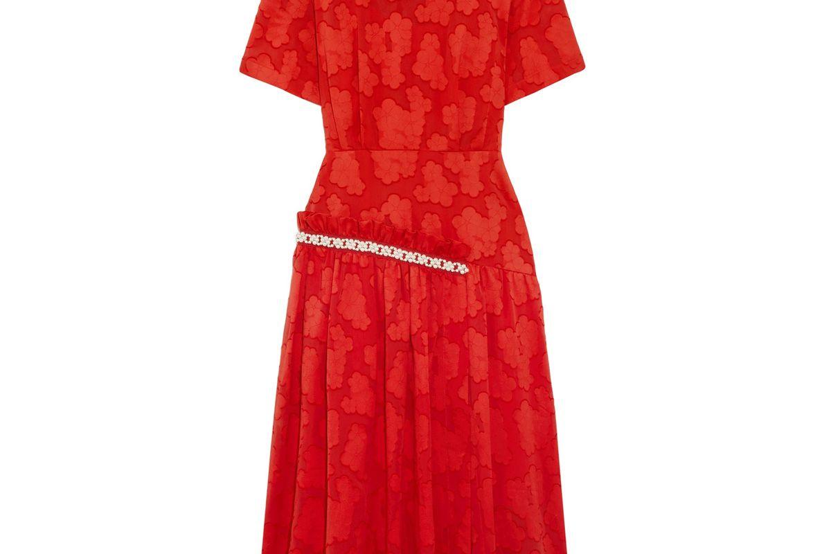 Twilla Embellished Burnout Cotton Midi Dress