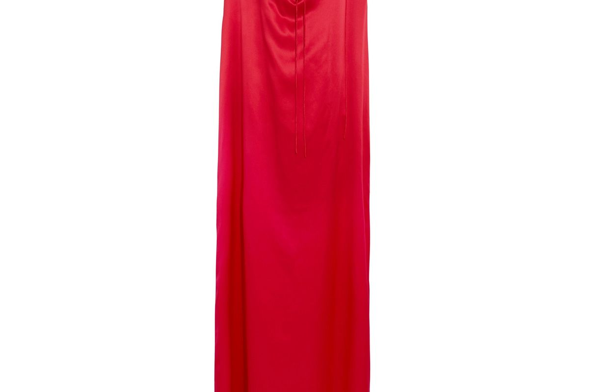 Silk-Satin Maxi Gown