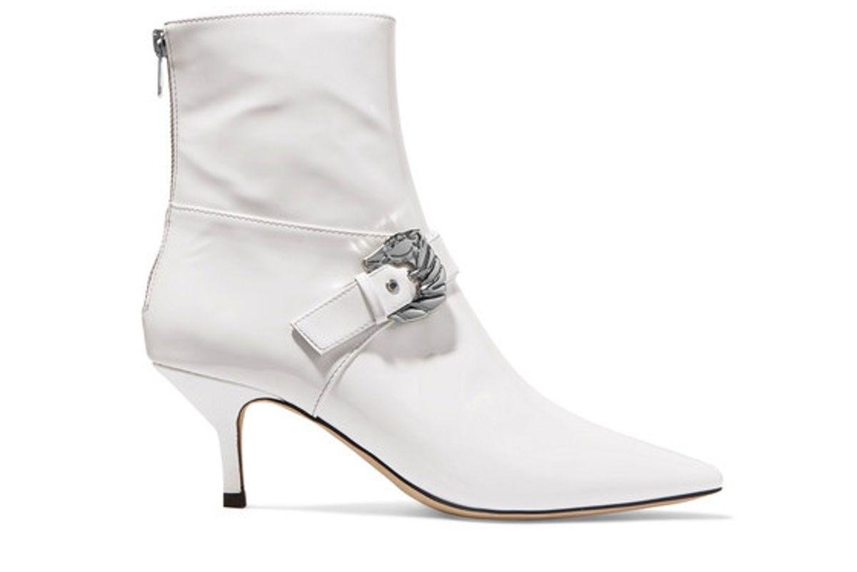 Saloon Buckled Patent-leather Ankle Boots