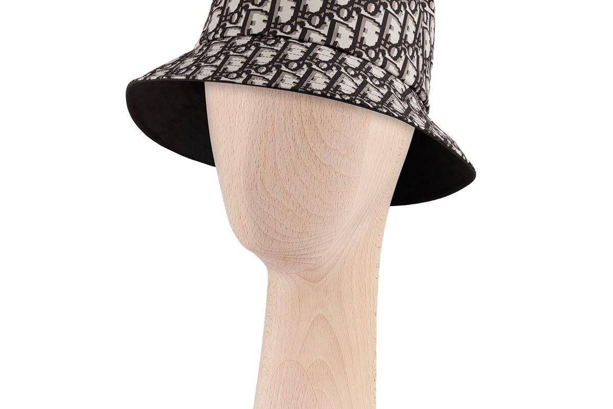 dior reversible teddy d dior oblique short brim bucket hat