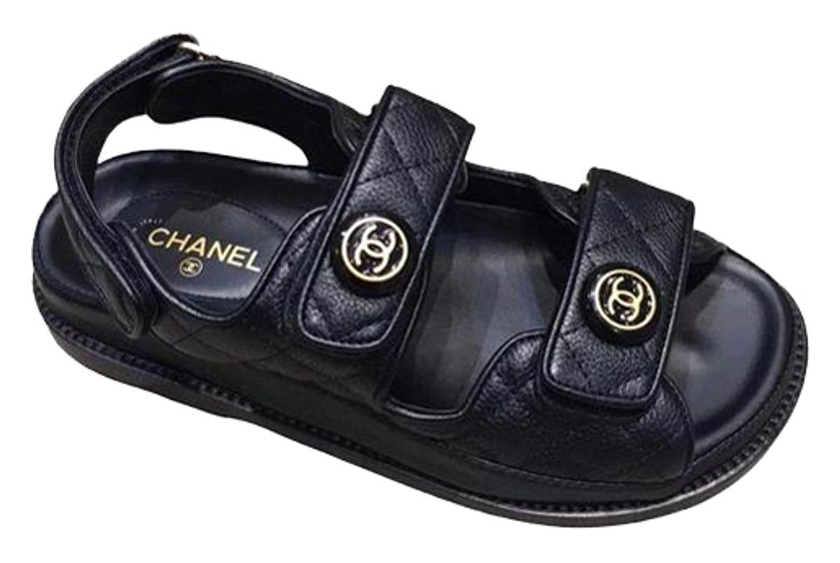 chanel cc foogped sandals