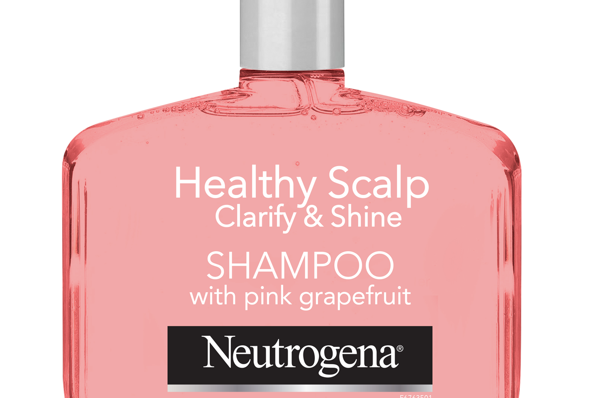 neutrogena exfoliating shampoo for oily hair and scalp with pink grapefruit healthy scalp clarify and shine sulfate free surfactants color safe