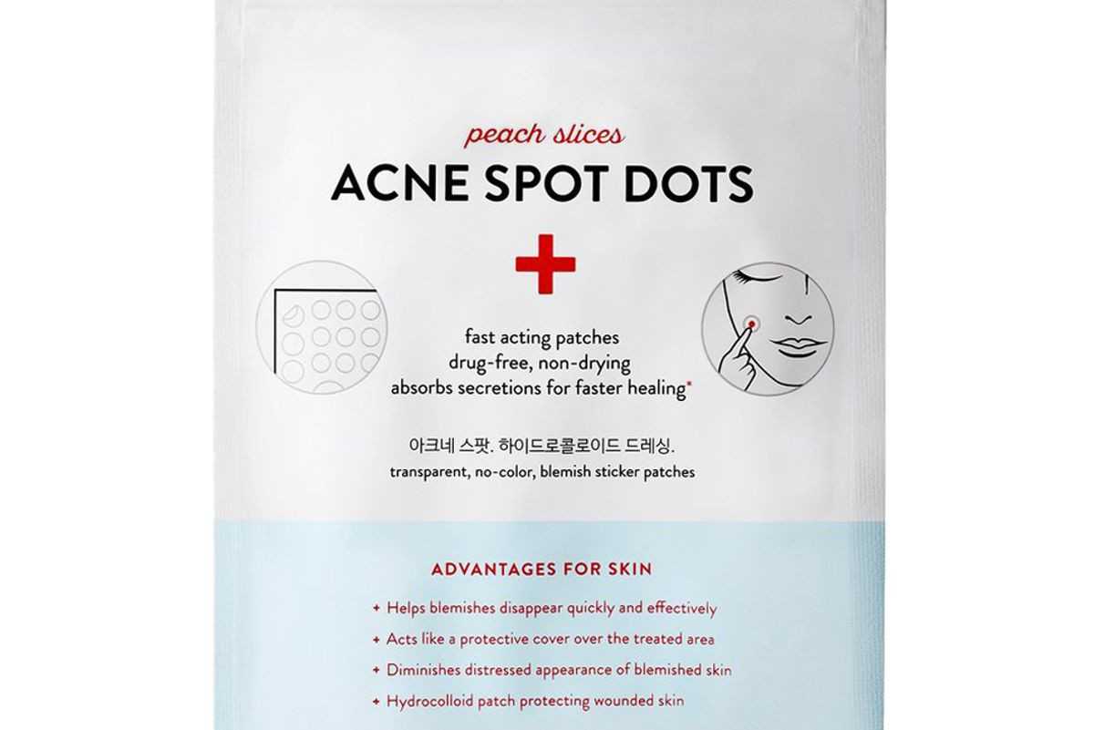 peach and lily peach slices acne spot dots