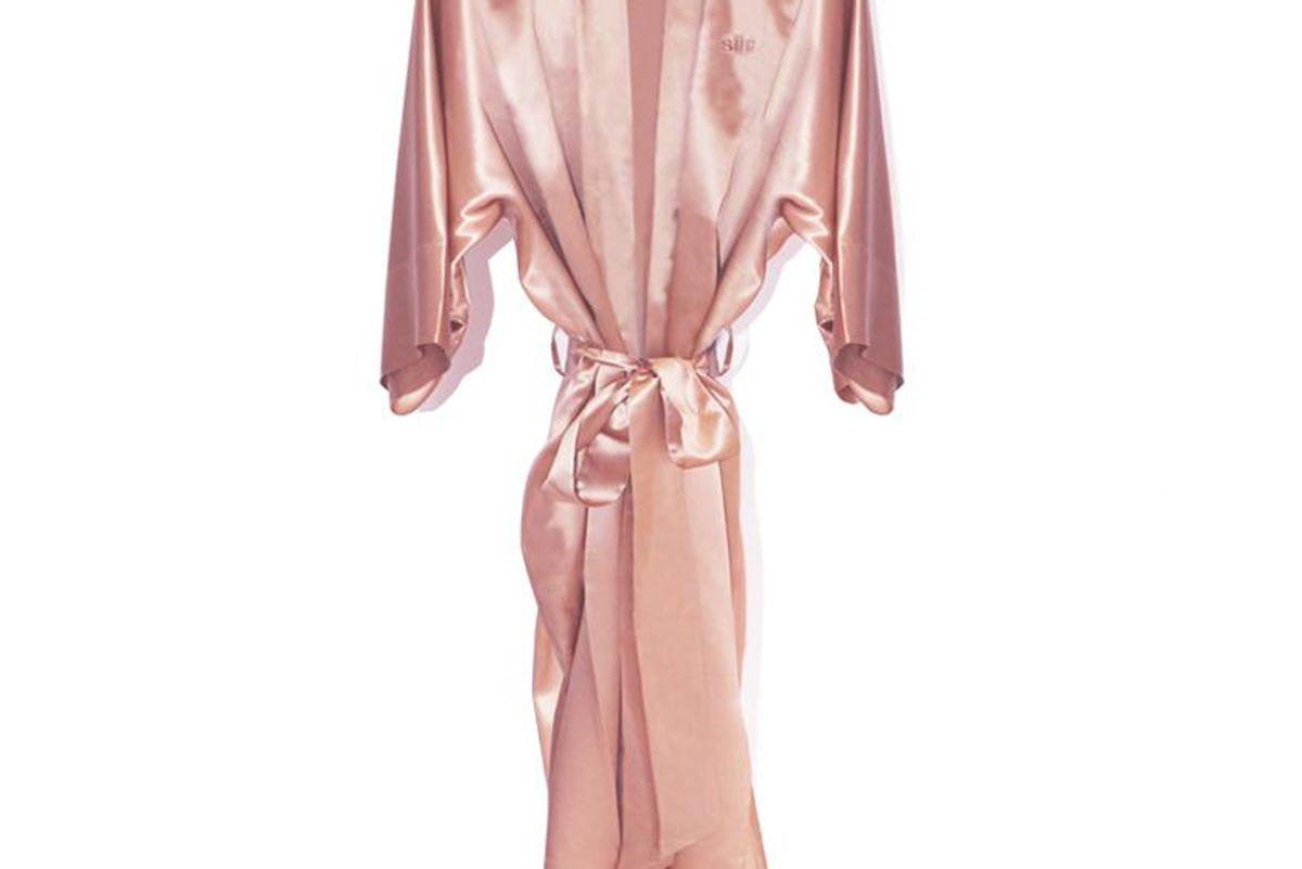 slip slipsilk robe pink