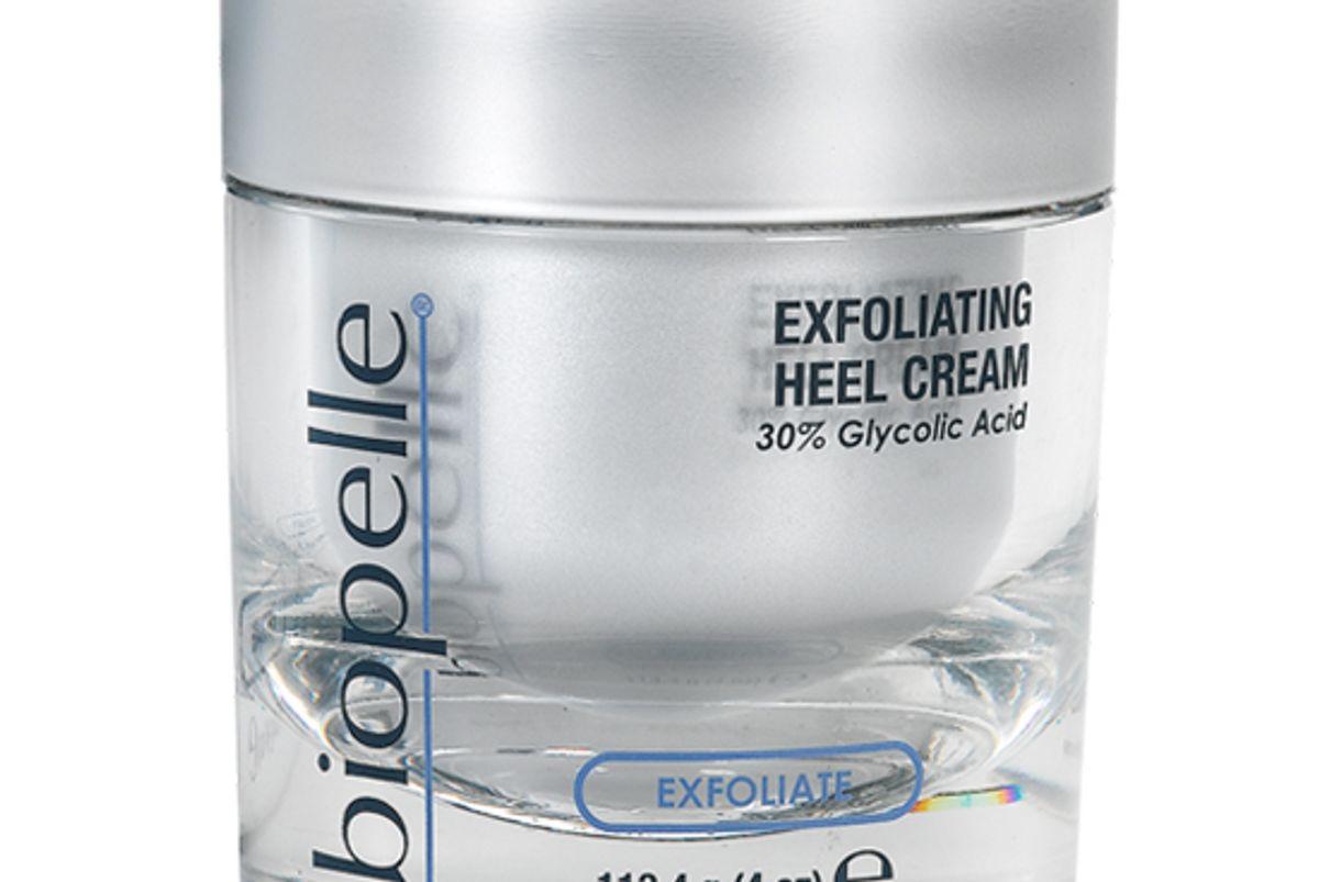 biopelle exfoliate exfoliating heel cream