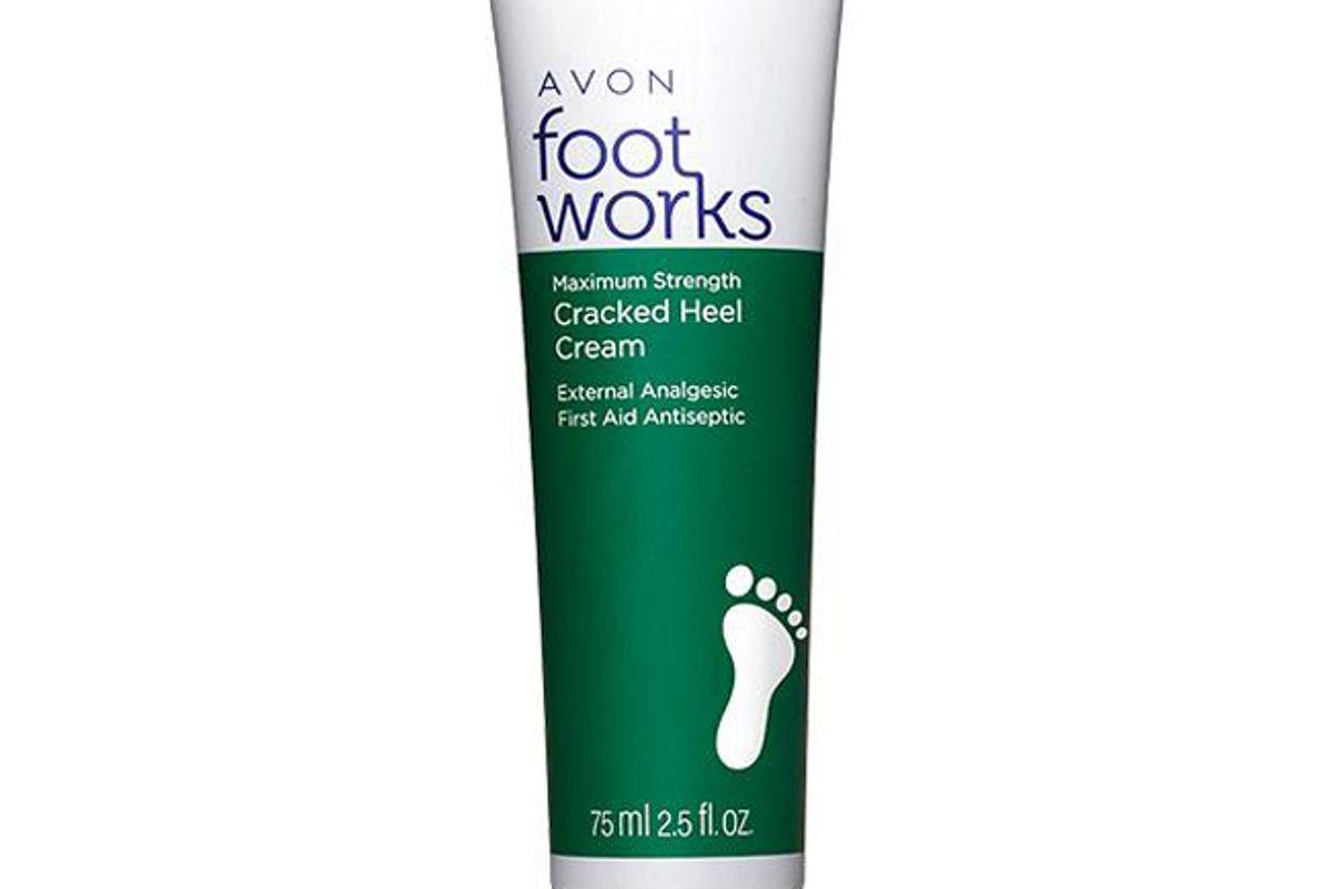avon foot works maximum strength cracked heel cream
