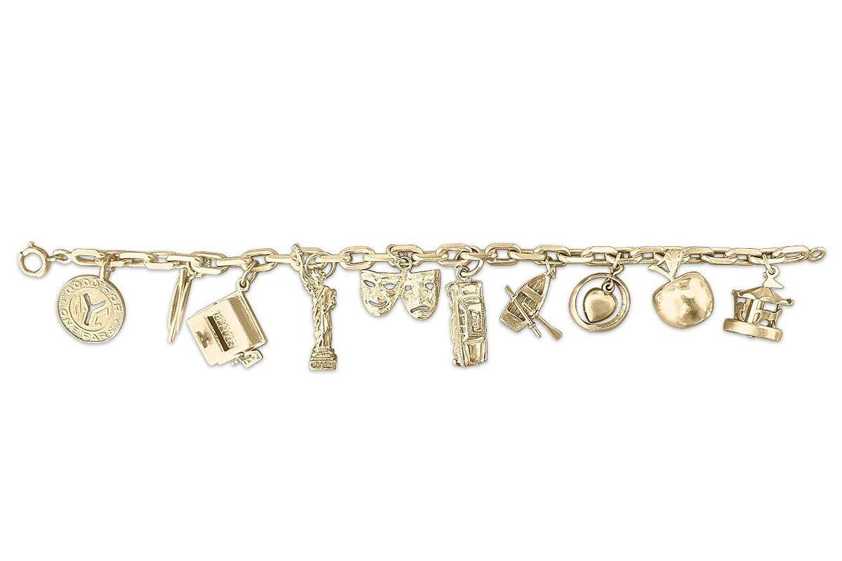fewer finer i love new york collected vintage charm bracelet