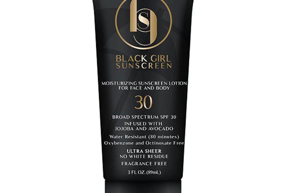 black girl sunscreen spf 30