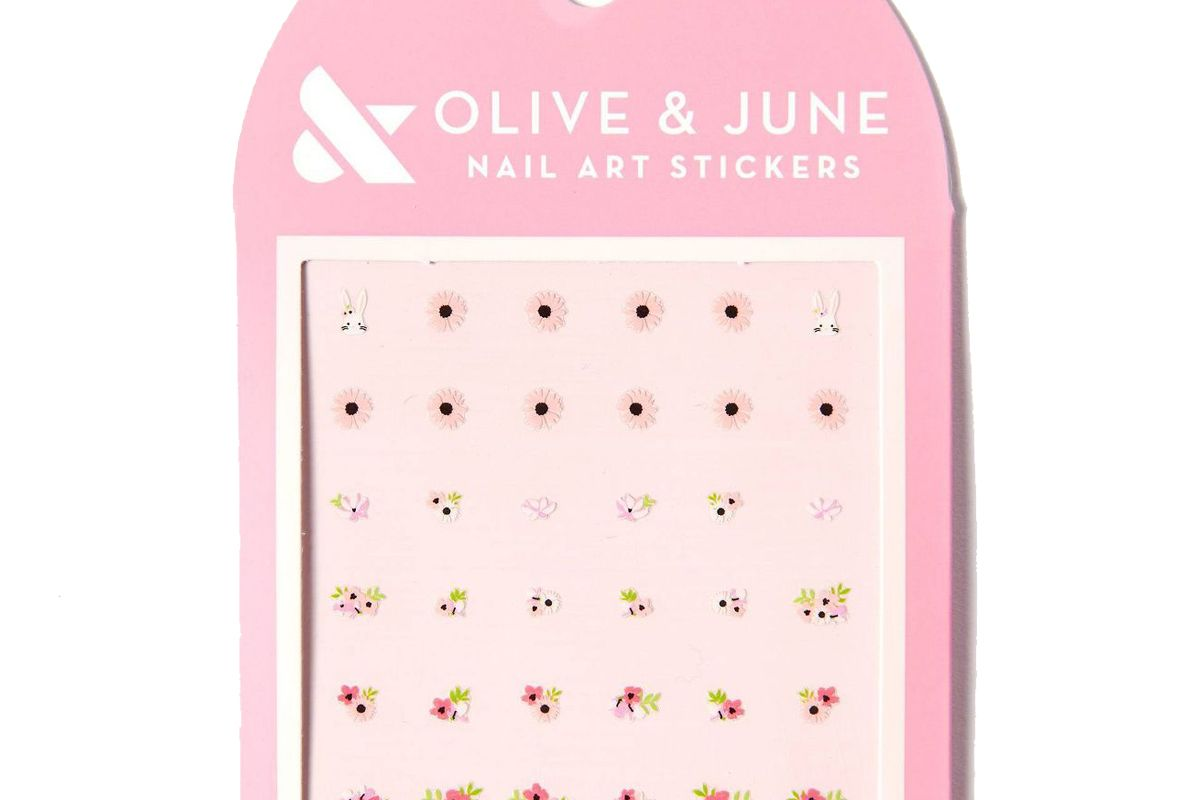 olive and june nail art stickers everyday bouquet