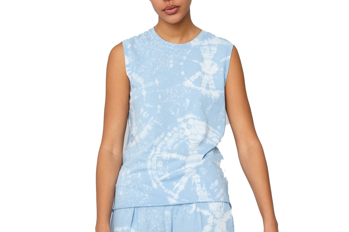 raquel allegra blue constellation jersey fitted muscle