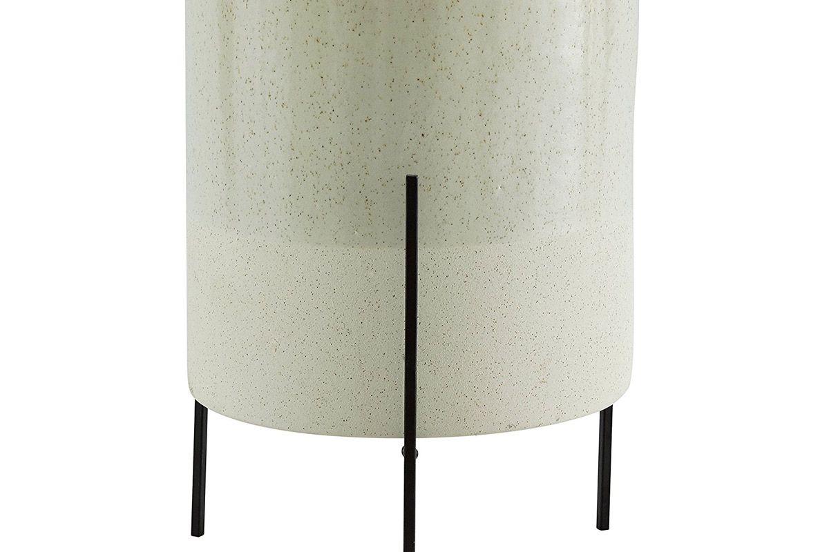rivet mid century ceramic planter stand