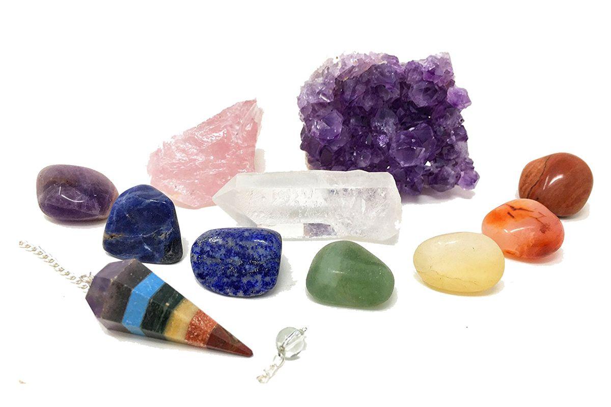 crystal healing set