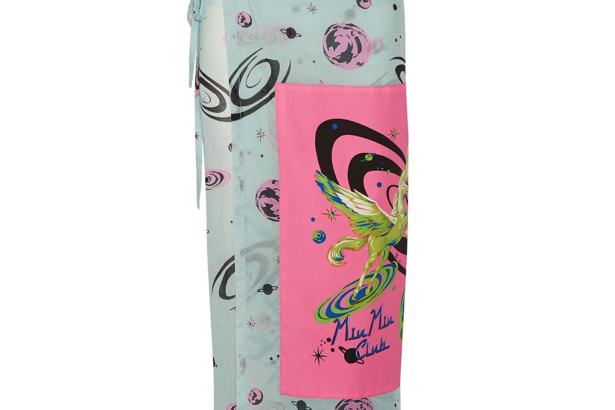 Printed Cotton-Voile Skirt