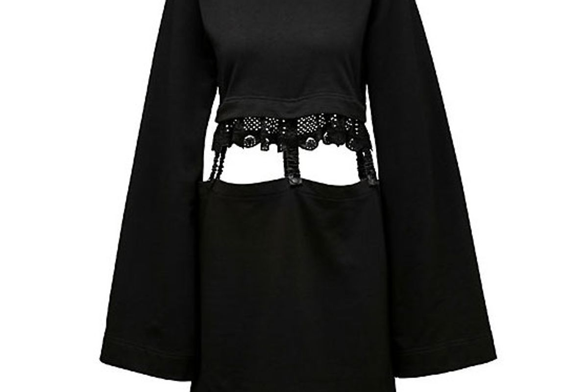 Kimono Sleeve Suspender Dress