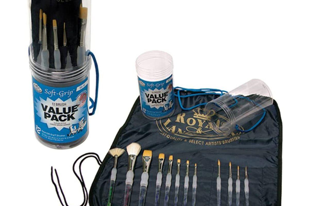 royal brush Langnickel soft grip brush set value pack