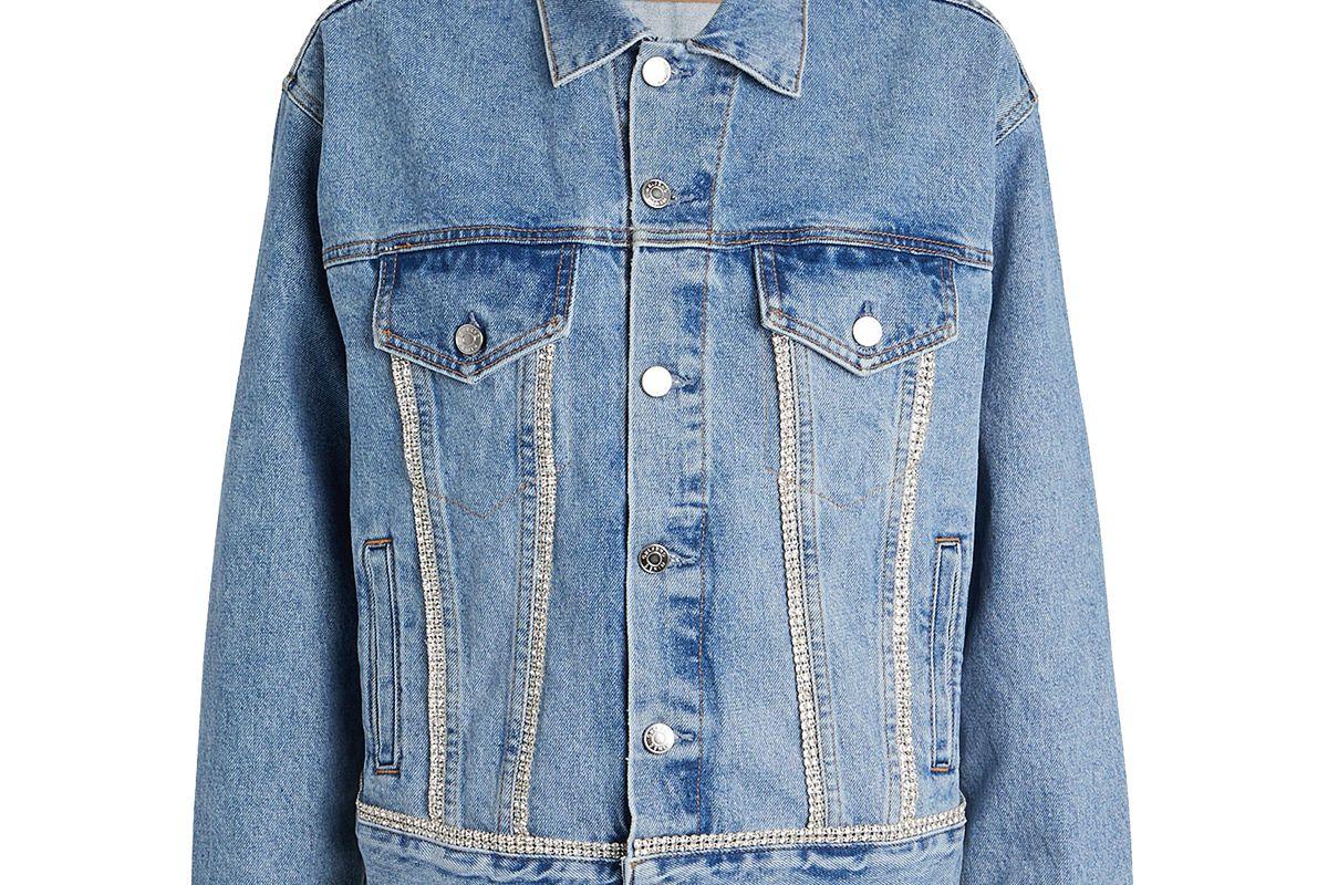 grlfrnd kim embellished denim jacket