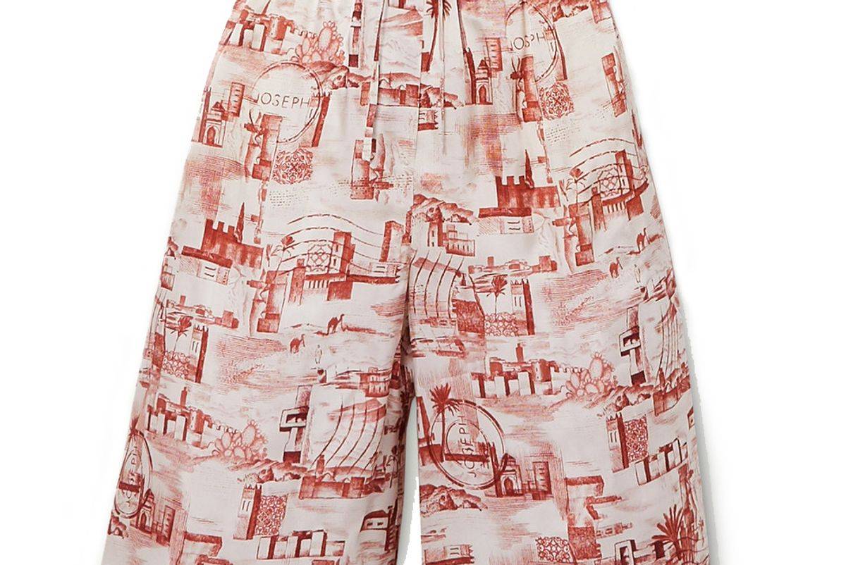 joseph david printed twill shorts