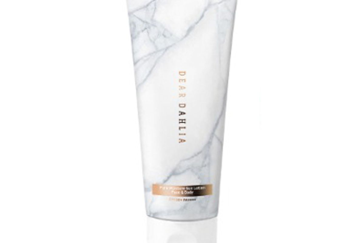 dear dahlia skin paradise pure moisture sun lotion face and body spf 50 plus
