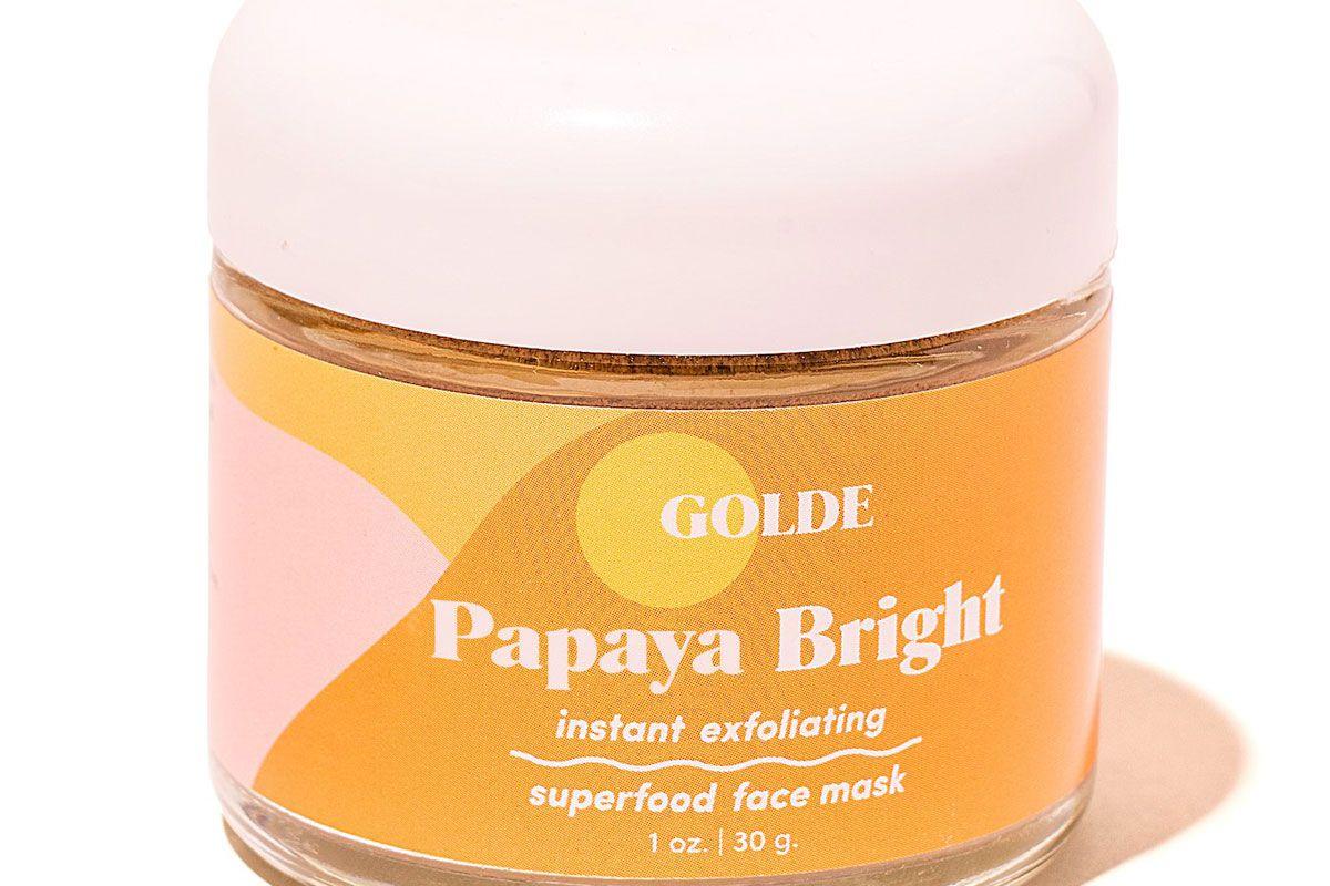 golde papaya bright face mask