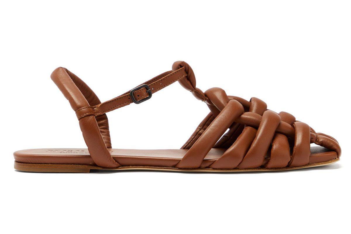 hereu cabersa woven leather slingback sandals