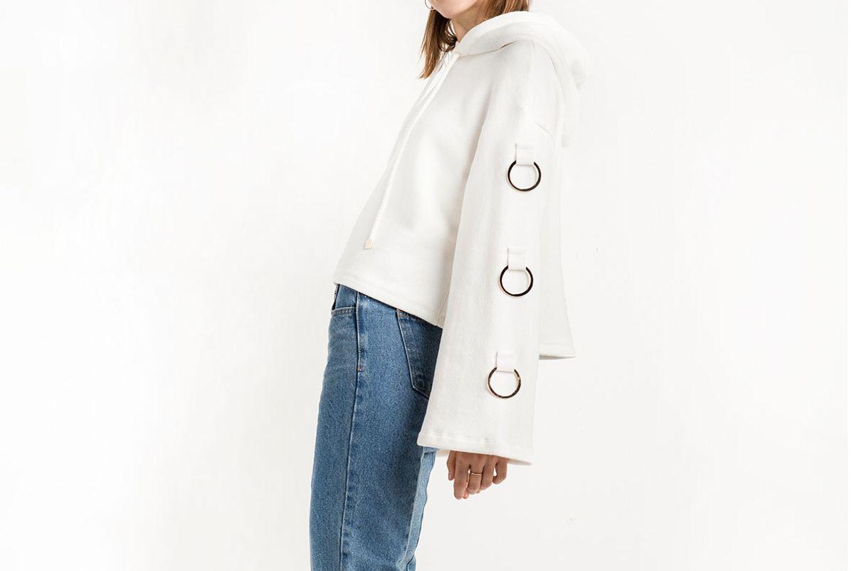 White Ring Hoodie Sweatshirt
