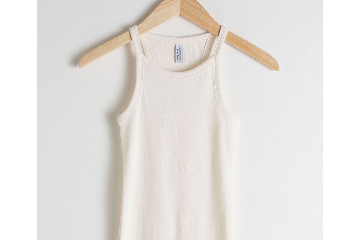 and other stories racer cut cotton tank top