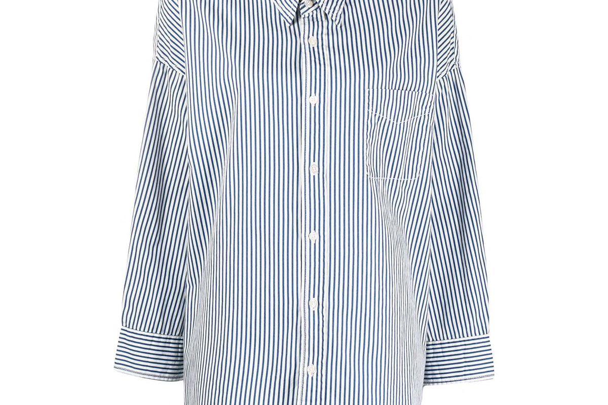 denimist oversized striped shirt