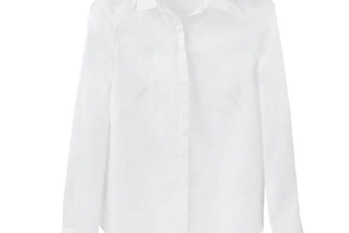 Poplin Pleat-Back Shirt