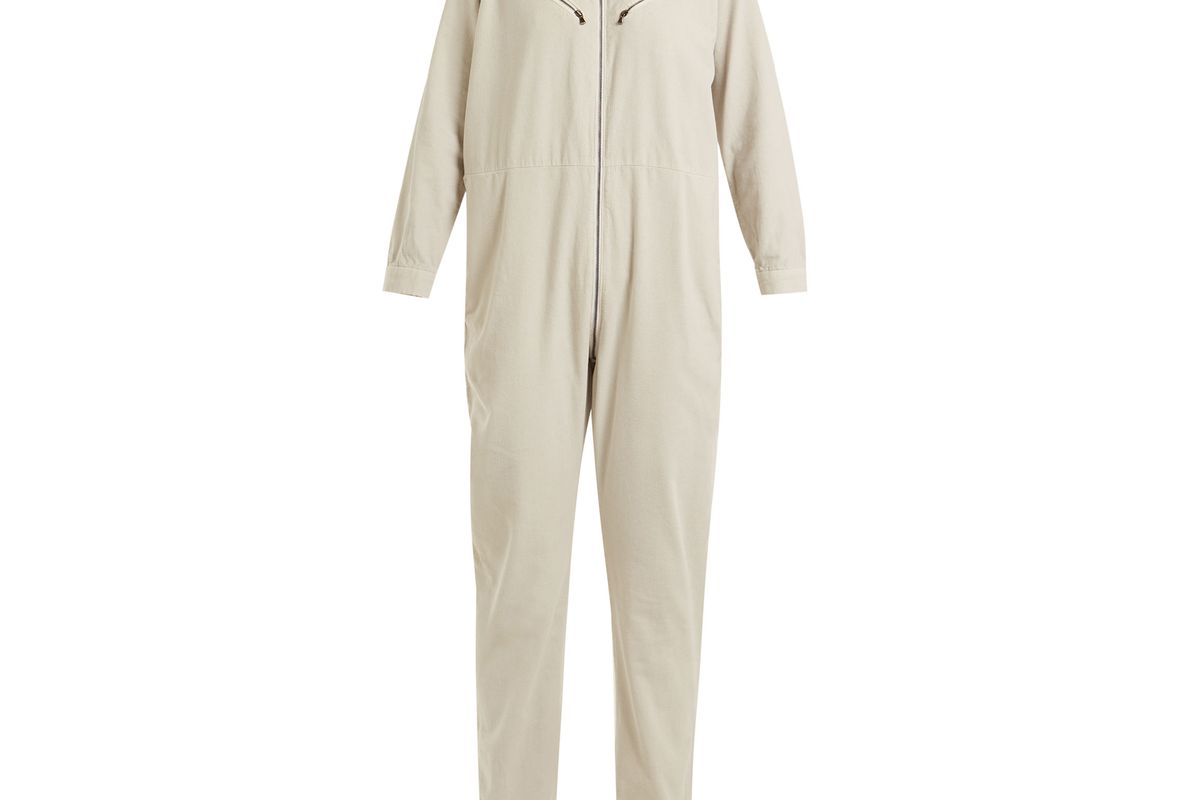 Riot long-sleeved cotton-corduroy jumpsuit