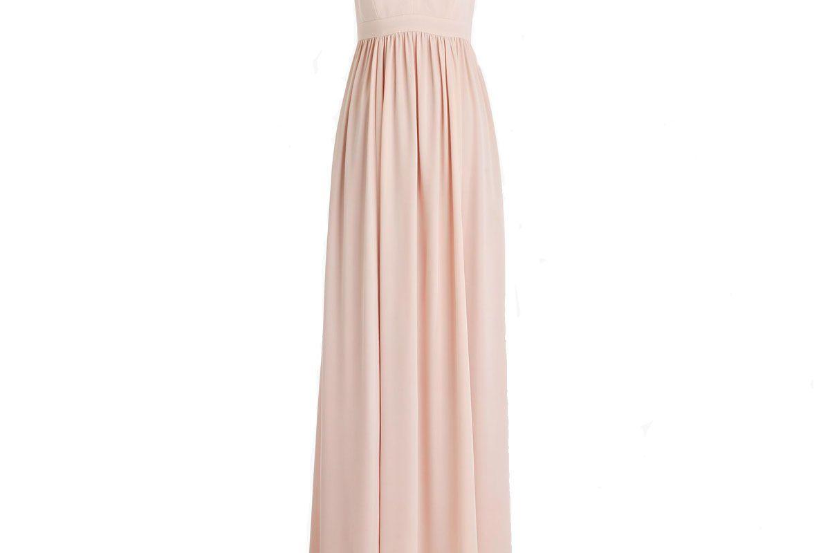 Long drapey spaghetti-strap dress