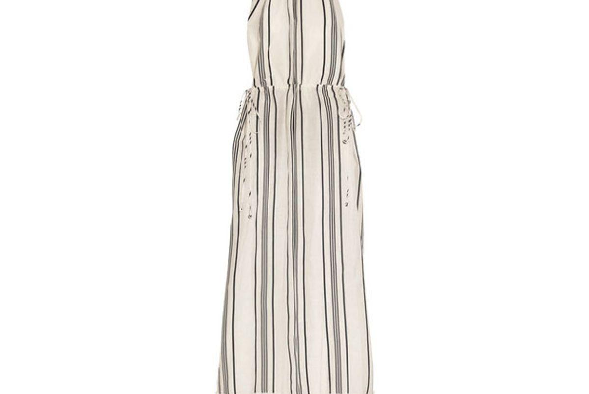 Himalaya striped linen and silk-blend maxi dress