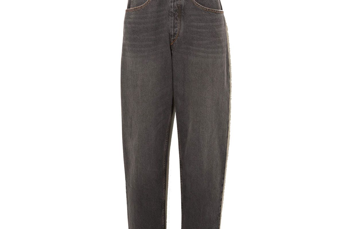 isabel marant etoile gloria belted high rise tapered jeans