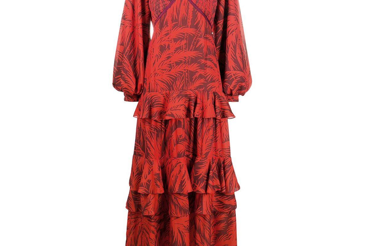 johanna ortiz convertible floral tiered dress