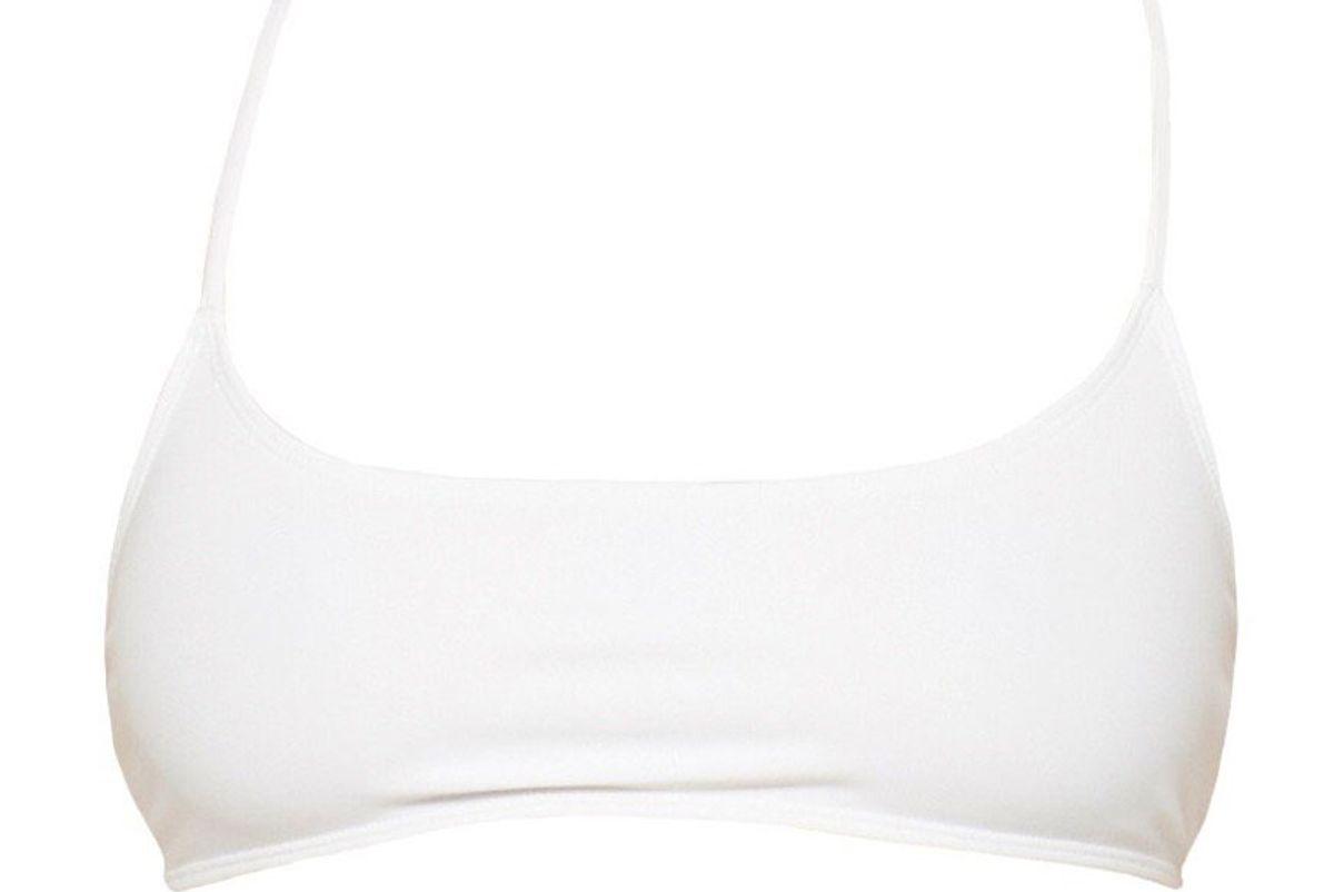 basic swim capri top white