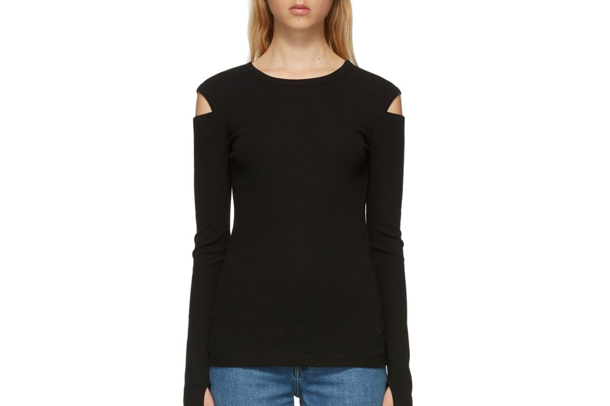 helmut lang rib slash long sleeve t-shirt