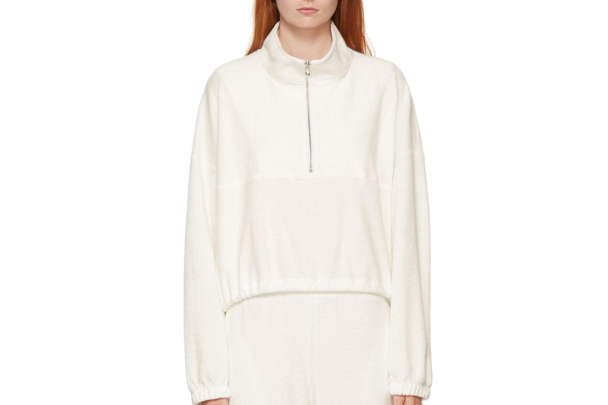 gil rodriguez terry diana half zip sweatshirt