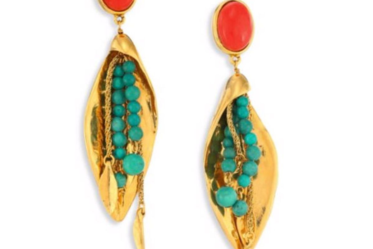 Monteroso Turquoise Clip-On Drop Earrings