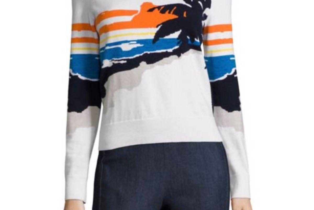 Nicki Palm Intarsia Pullover