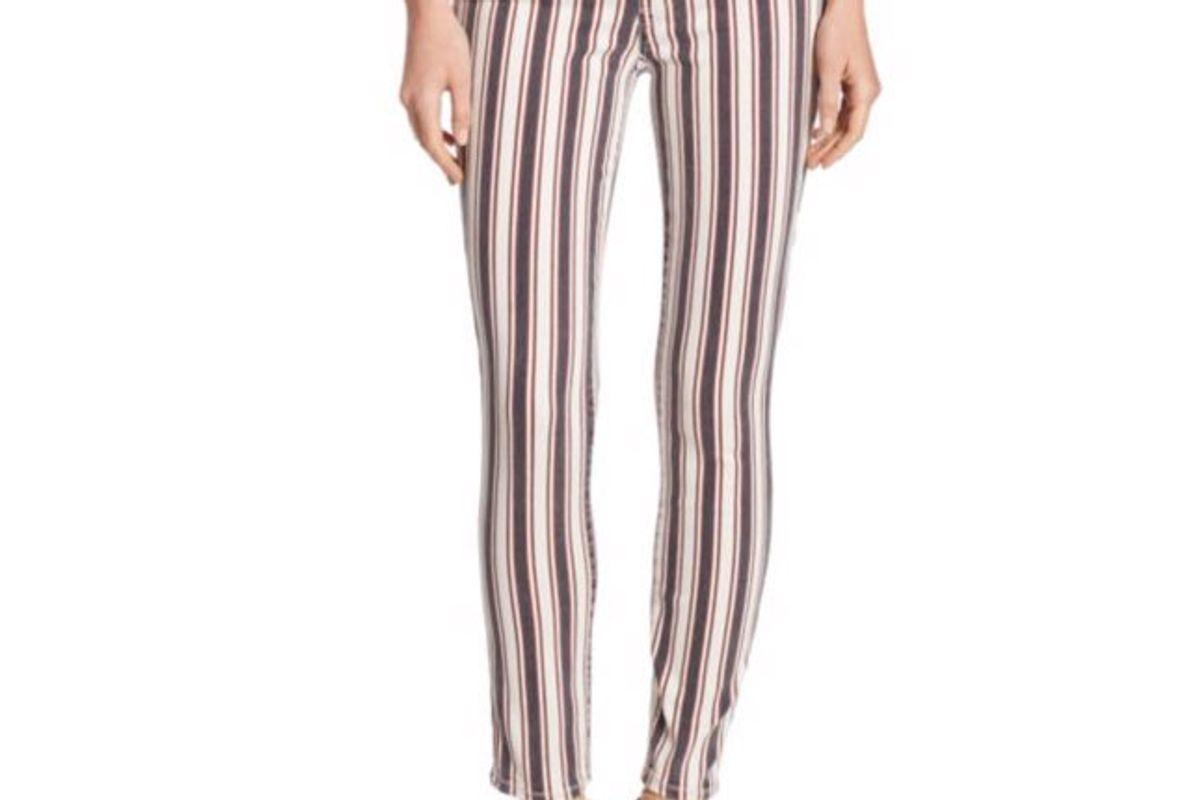 Verdugo Striped Ankle Skinny Jeans