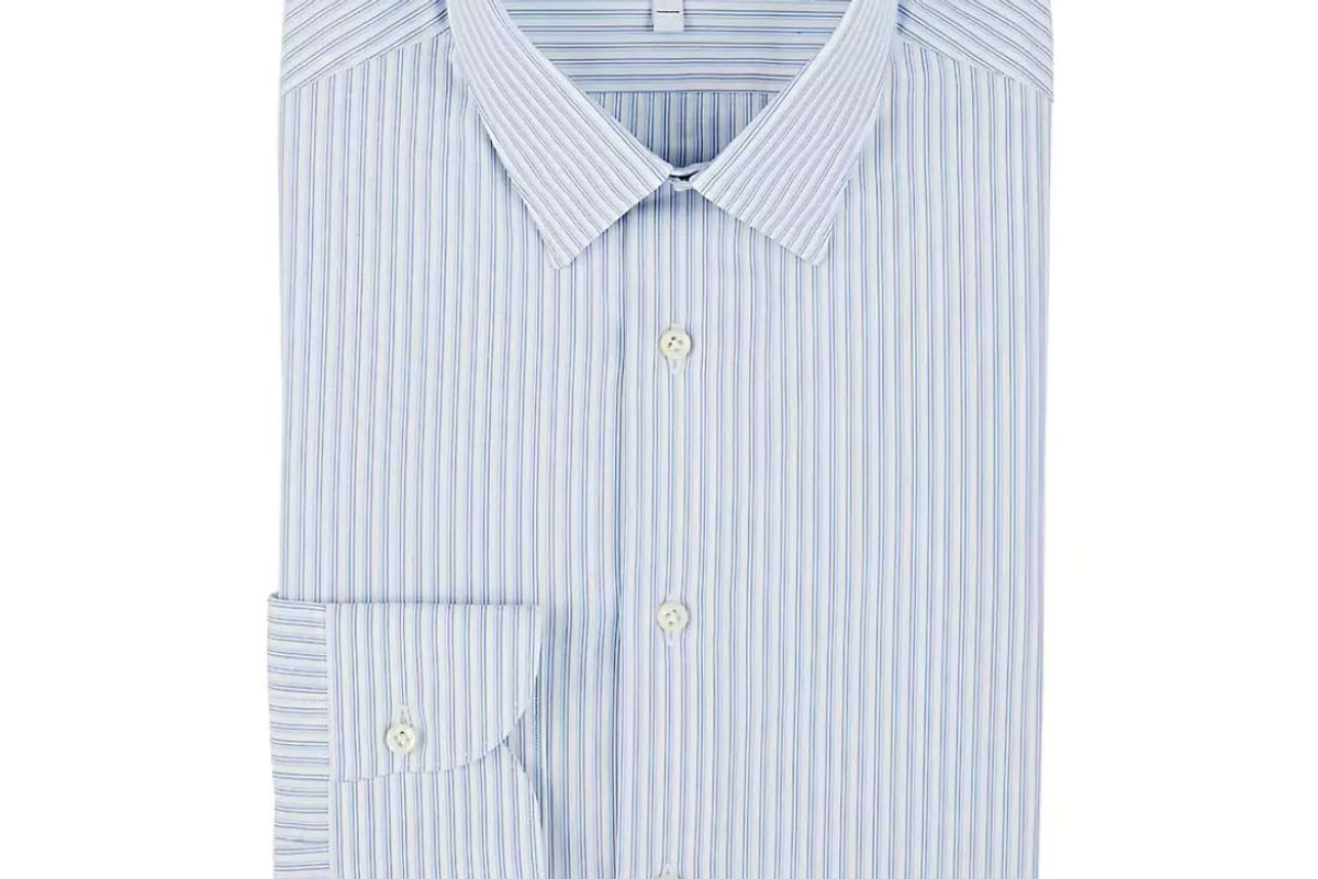boglioli striped cotton dress shirt