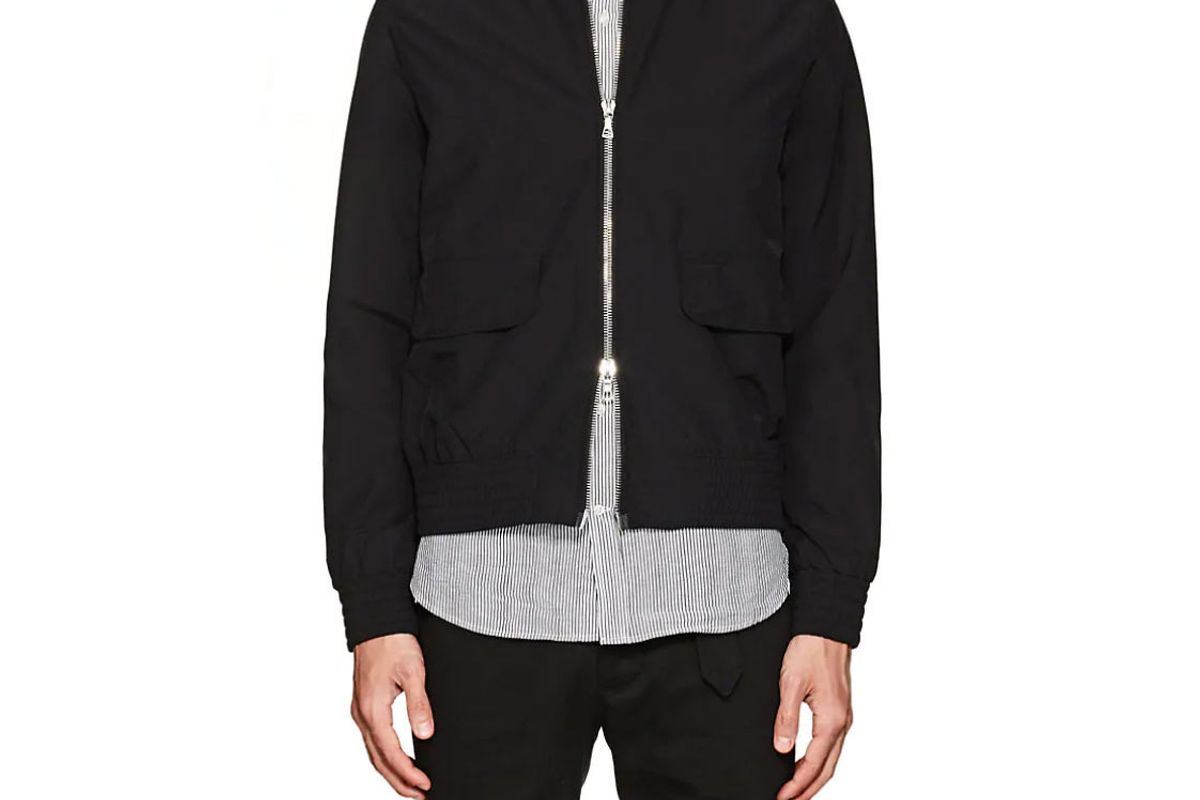 officine generale flynn wool-blend bomber jacket