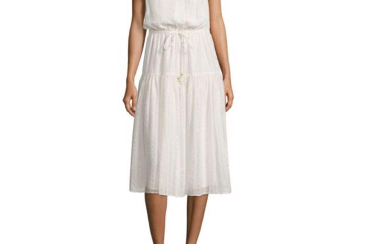 Klea Metallic Striped Midi Dress