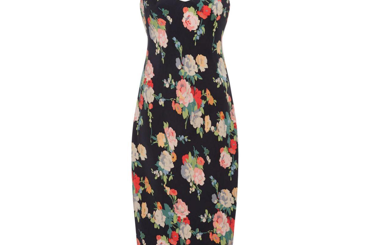 nili lotan floral print silk slip dress